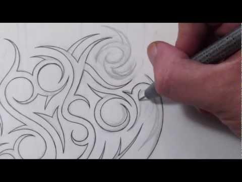 designing tribal name tattoo design alex doovi. Black Bedroom Furniture Sets. Home Design Ideas
