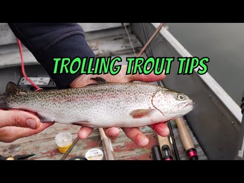 Trout Trolling Tips | How To Trolling For Trout In Lakes & Ponds.