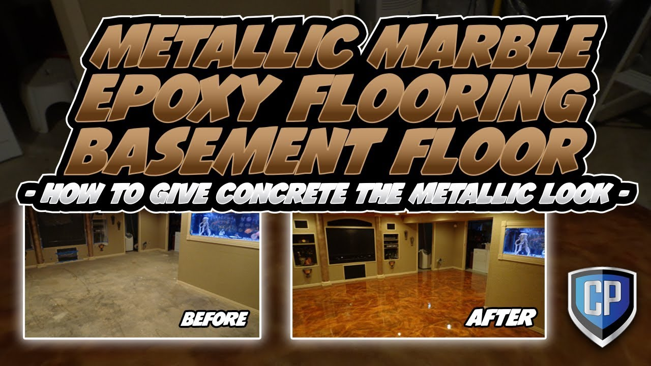 metallic marble epoxy flooring basement floor - how to give