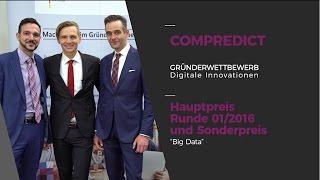 """Interview: COMPREDICT, Hauptpreis und Sonderpreis """"Gründerwettbewerb - Digitale Innovationen"""""""