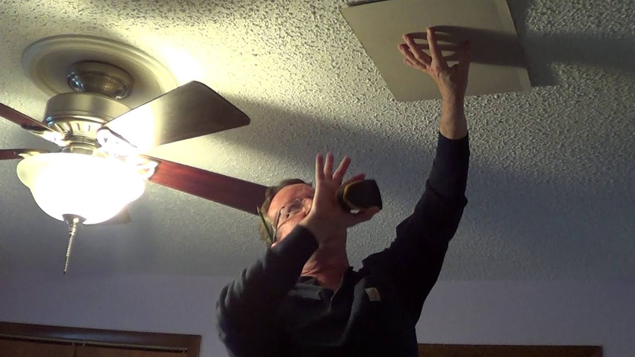 using a stud finder on a textured ceiling - youtube