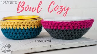 How to Crochet a Thick Bowl Cozy: 2 Different Sizes: 15 Minute Project!