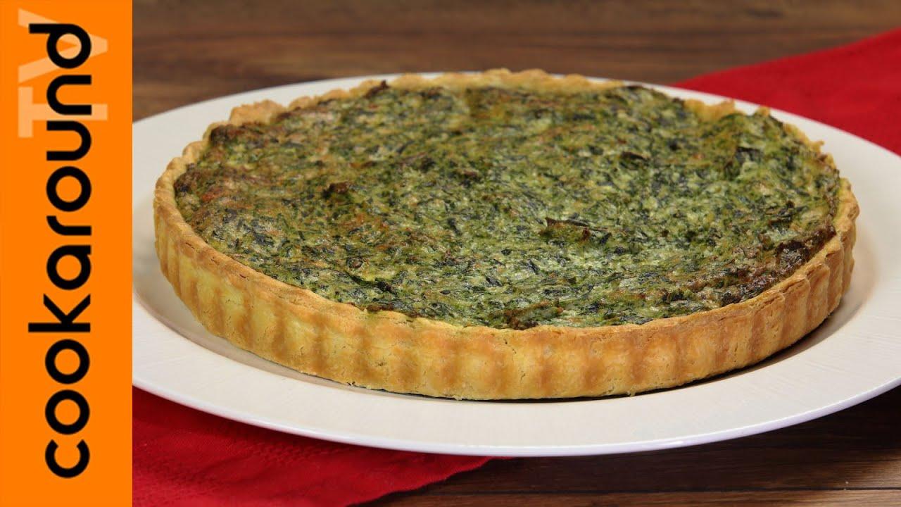 Quiche ricotta e spinaci ricette torte salate youtube for Ricette torte salate