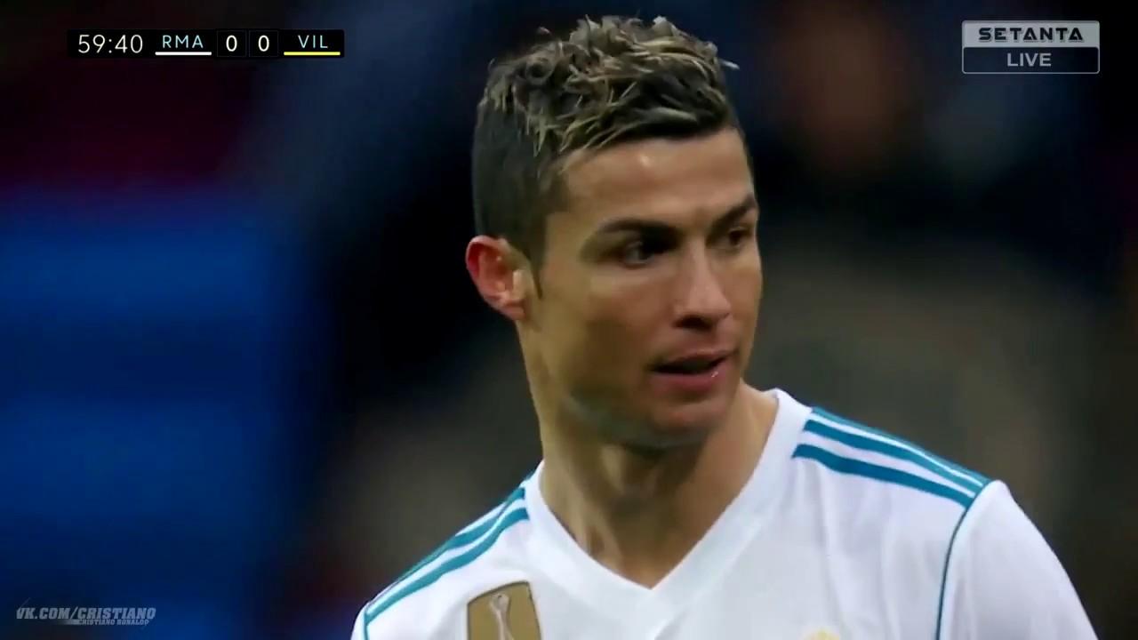 كل ما قدمة كريستيانو رونالدو  ضد فياريال- دوري الاسباني -  13-01-2018- HD