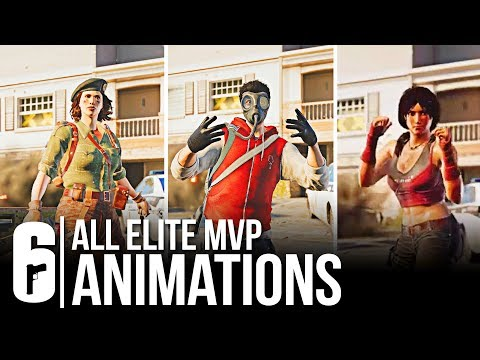Rainbow Six Siege - ALL 27 ELITE SKINS MVP ANIMATION + ELA & CAVIERA LEAK (All Leaked Victory Pose)
