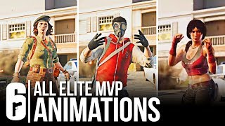 Download Rainbow Six Siege - ALL 27 ELITE SKINS MVP ANIMATION + ELA & CAVIERA LEAK (All Leaked Victory Pose) Mp3 and Videos