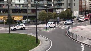 Homenaje a los policías, emergencias y bomberos en Oviedo