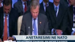 Shqiperia ne NATO, dite historike ne Strasburg.
