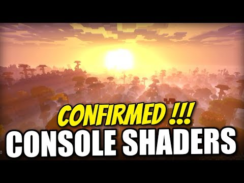 Minecraft Console - Shaders Confirmed ! E3 footage - PE / Xbox One #HYPE