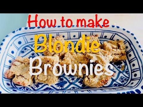 vegane-süßigkeit-selbstgemacht!⎮blondie-brownies-saftig-&-lecker⎮kichererbsen-superfood⎮kirsty-coco