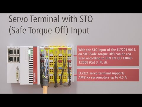 EtherCAT servo terminals: higher output current, integrated STO safety  function