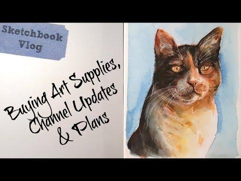 Sketch & Vlog: Art Supply Shopping, Resolutions & Channel News!