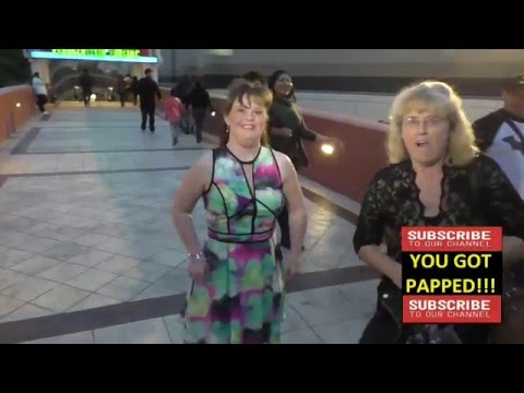 Jamie Brewer talks about Lady Gaga on AHS at Universal CityWalk in Hollywood