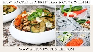 how to create a meal prep tray cook with me