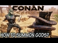 CONAN EXILES : SUMMONING AVATAR GODS TUTORIAL GUIDE - How to spawn GODS