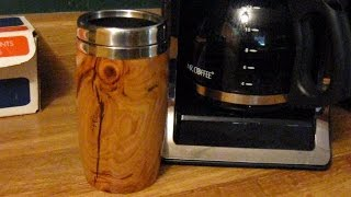 45 Woodturning a Travel Mug from an Apple Burl