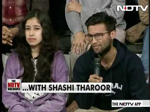 Shashi Tharoor on NDTV with Sonia Singh