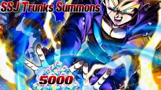SSJ Trunks & Vegeta Summons! 5000 Zeitkristalle / Chrono Crystals | Dragon Ball Legends Deutsch