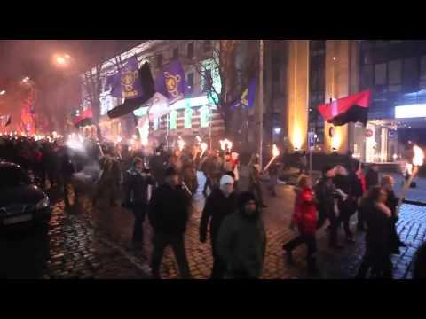 The neo-nazi march in Kiev.