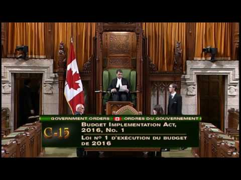 FULL-Budget 2016 Investments in Young Canadians-June 6th 2016