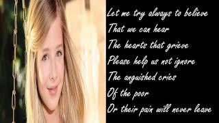 Jackie Evancho - To Believe (Lyrics)