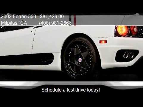 2002 Ferrari 360  for sale in Milpitas, CA 95035 at NBS Auto