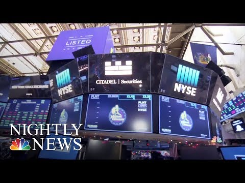 Dow Hits Record High And Breaks 25,000 | NBC Nightly News