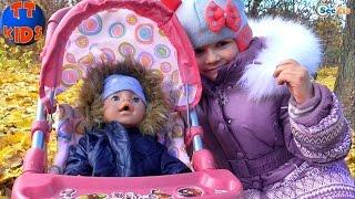 ✔ Кукла Беби Борн и Ярослава на прогулке в парке / Baby Born Doll and Yaroslava goes for a walk ✔