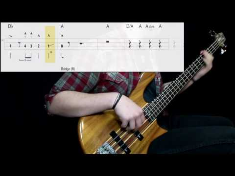 Queen - Bohemian Rhapsody (Bass Only) (Play Along Tabs In Video)