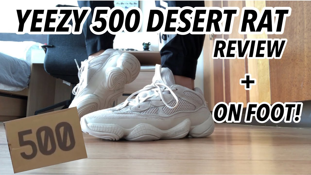 "ba9c5bd2449b9 THE BEST UA YEEZY 500 DESERT RAT ""BLUSH"" UNBOXING+ ON FOOT REVIEW!!!( Wonderkicks)"