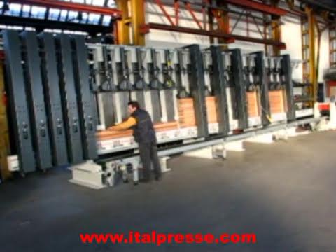 Italpresse Stl 9000 200 Cold Press Line For Wood Laminated