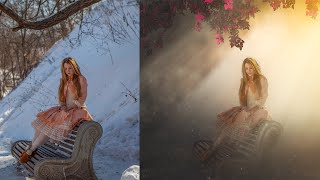Photoshop Tutorial | Photo Manipulation Photo Effects Girl on Chair