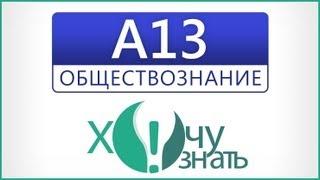 A13 по Обществознанию Подготовка к ЕГЭ 2012 Видеоурок