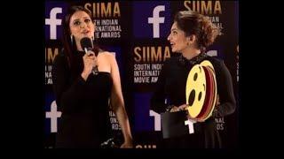 Rakul Preet Singh and Lavanya Tripati at VIVO Red Carpet SIIMA Awards 2017