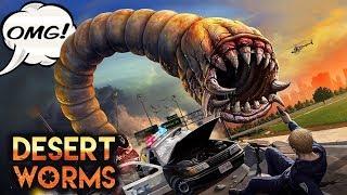 ПУСТЫННЫЕ ЧЕРВИ МАШИНКИ ПРОТИВ МОНСТРОВ desert worms #2 games cars ИГРА как мультик FOR