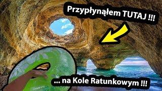 Płynę do Jaskini z Kołem Ratunkowym !!! - Jak Tam JEST ??? / Benagil w Portugalii (Vlog #311)