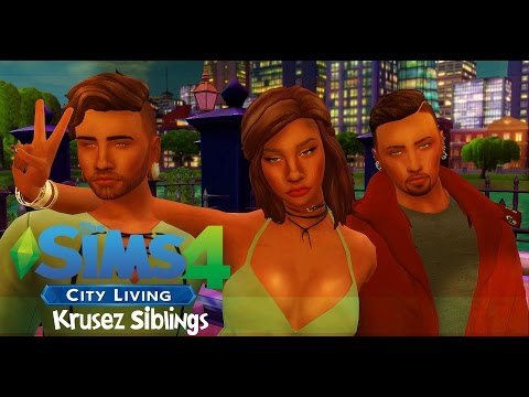 Let's Play | The Sims 4 City Living EP 1 | Meet the Krusez Siblings 👨‍👨‍👧
