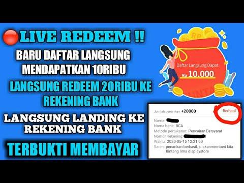 Live Redeem Aplikasi Penghasil Uang 2020 Terbukti Membayar Langsung Ke Rekening Bank Lokal Youtube