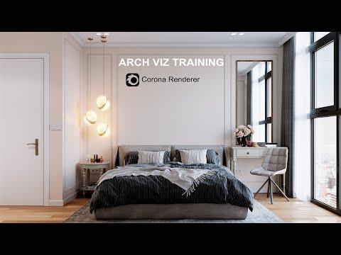 Archviz Training. Lighting Setup   Corona 5 (Included File)