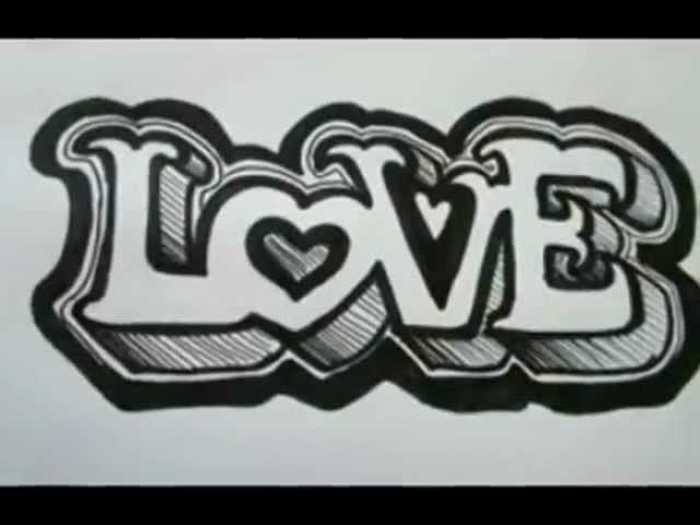 OUTSTANDING!! 3D Graffiti letters On Paper - The Basics - Love Letters Travel Video
