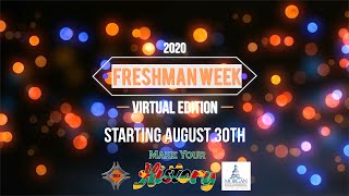 Freshman Week 2020: Virtual Edition