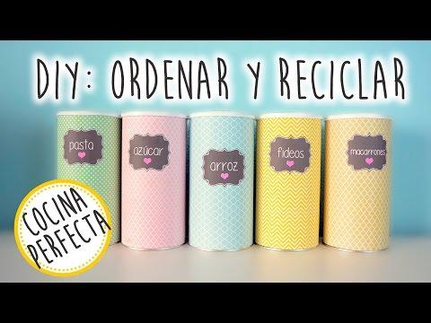 3 Ideas Diy Para Ordenar Y Reciclar Cocina Perfecta Youtube