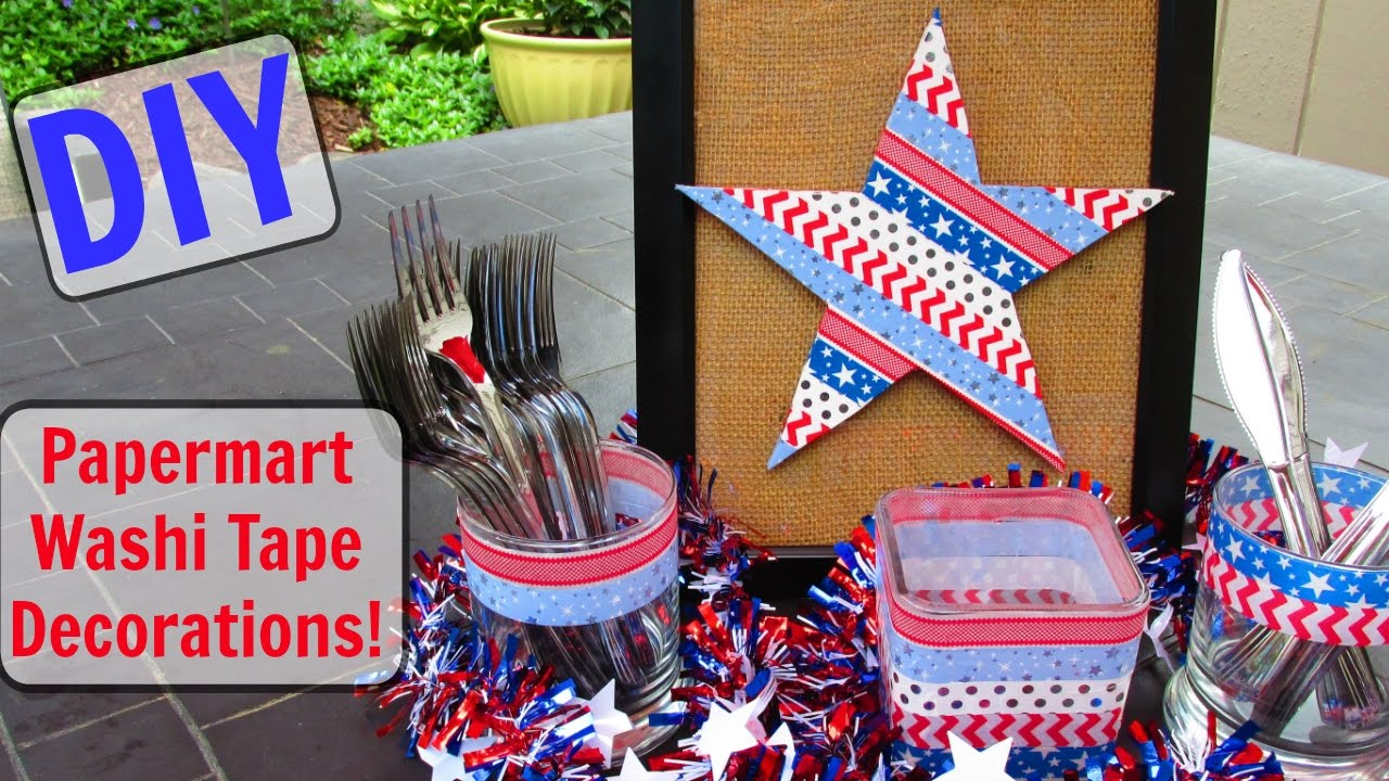 Diy Paper Mart Washi Tape Fourth Of July Decorations Sponsored
