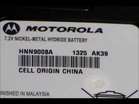 Motorola Battery Date Code For Two Way Radio Youtube