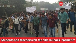 JNU protest: Students and teachers call fee hike rollback 'cosmetic'
