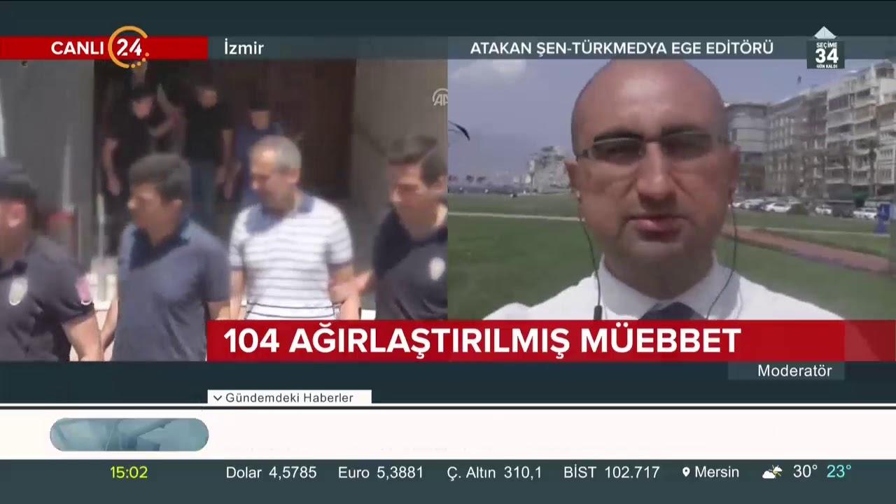 İzmir'deki FETÖ davasında 104 kişiye ağırlaştırılmış müebbet hapis cezası verildi