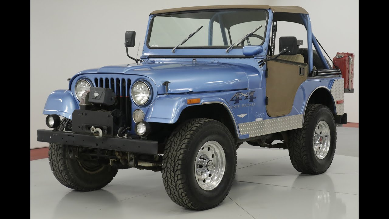 1975 jeep cj5 4k miles on rebuild heavily optioned 4x4 vip  [ 1280 x 720 Pixel ]