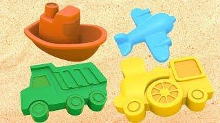 Aprender los colores para niños. Moldes de barro. Dibujos animados.