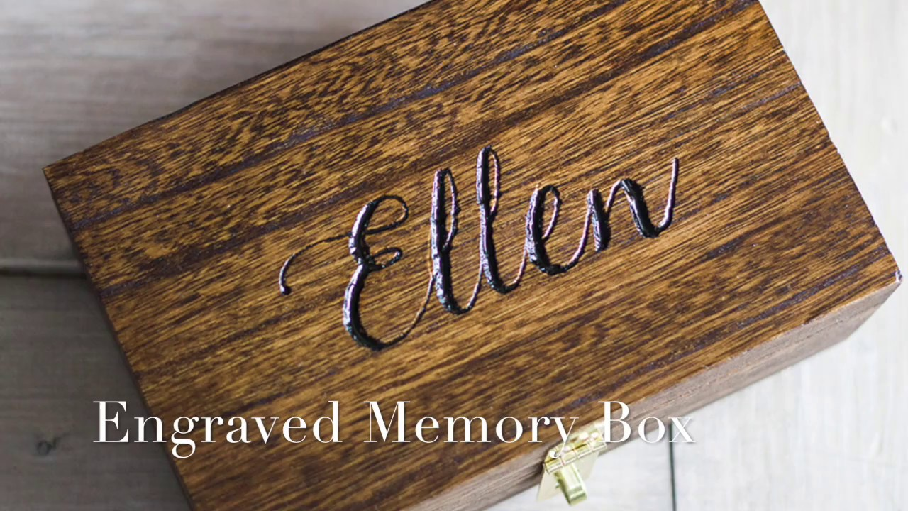 how to engrave a wood box youtube