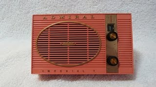 1961 Admiral model Y2082 transistor radio (made in USA)
